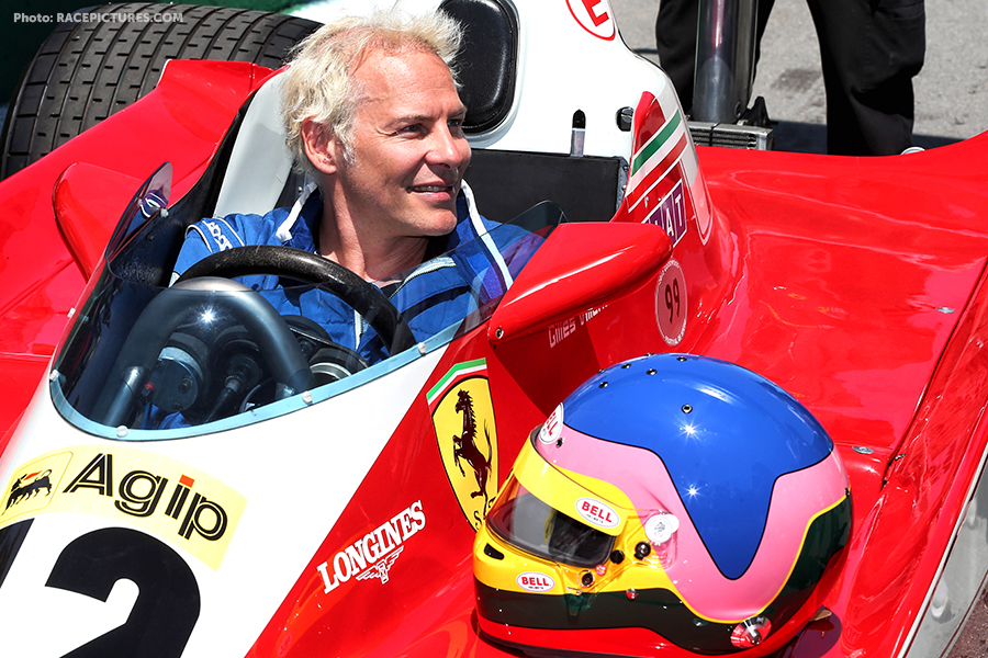 Jacques Villeneuve (CDN) with his father Gilles' Ferrari 1978 312 T3.