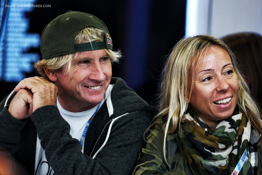 Robbie Naish (USA) Windsurfer with his wife Katie Naish (USA).
