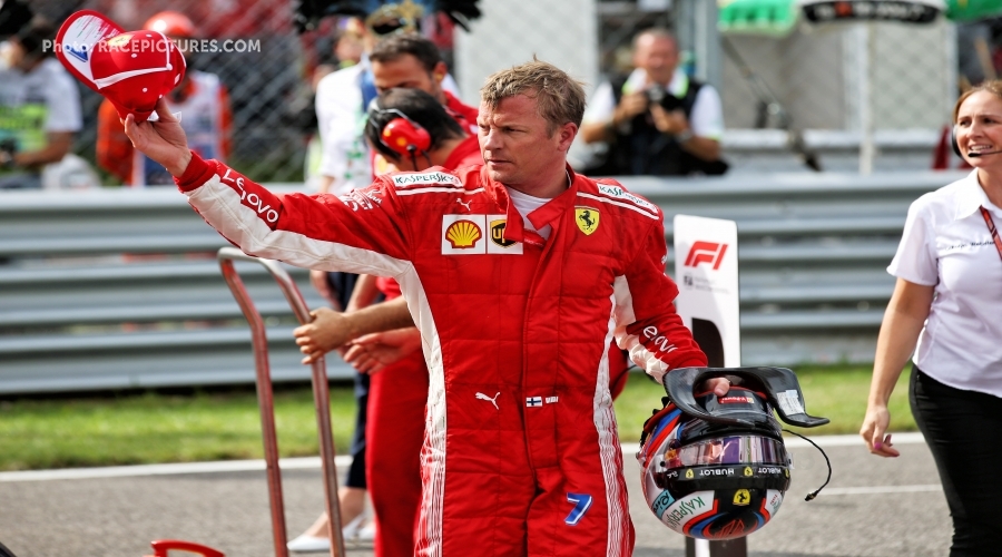 Kimi takes pole in Monza, fastest lap in F1 ever!
