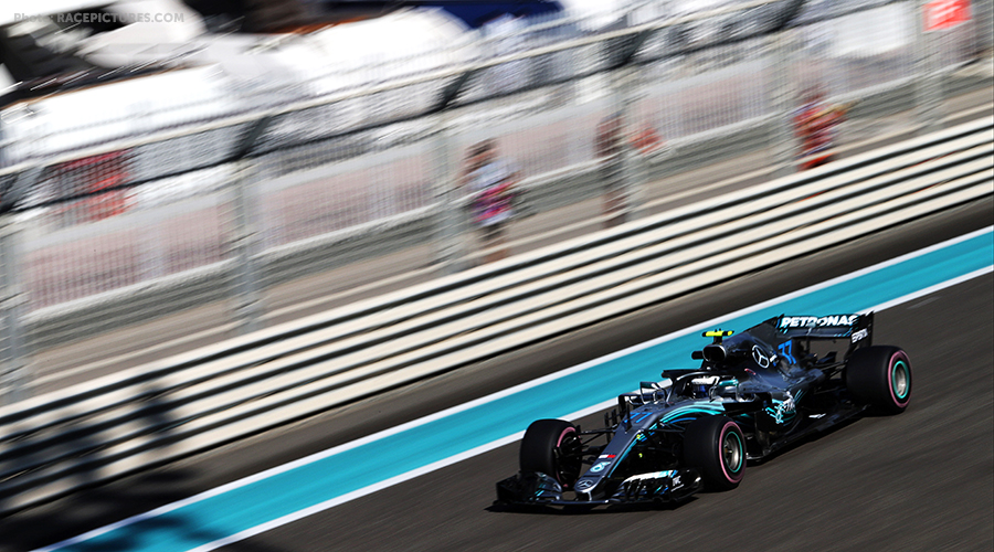 Bottas first in second free practice, strong performance Red Bull