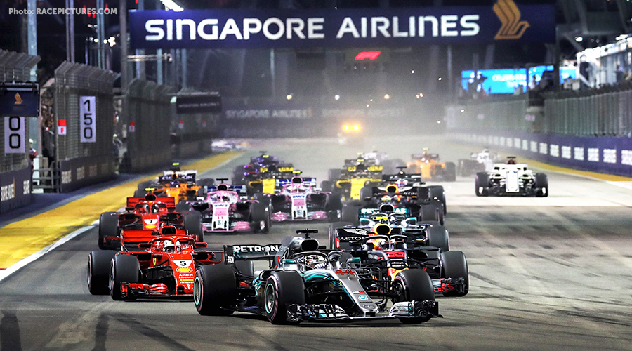 Hamilton superior in GP Singapore, Verstappen 2nd with great performance