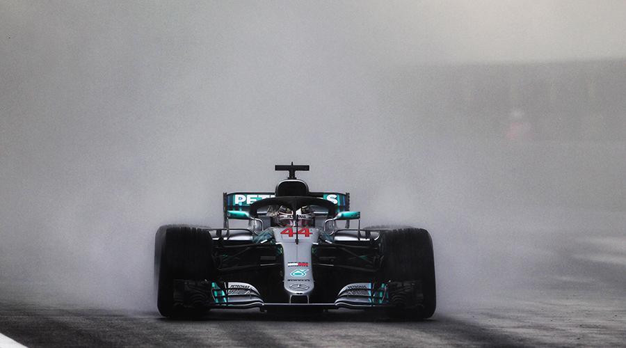 Lewis Hamilton has the pole position for the Hungarian Grand Prix in wet conditions!