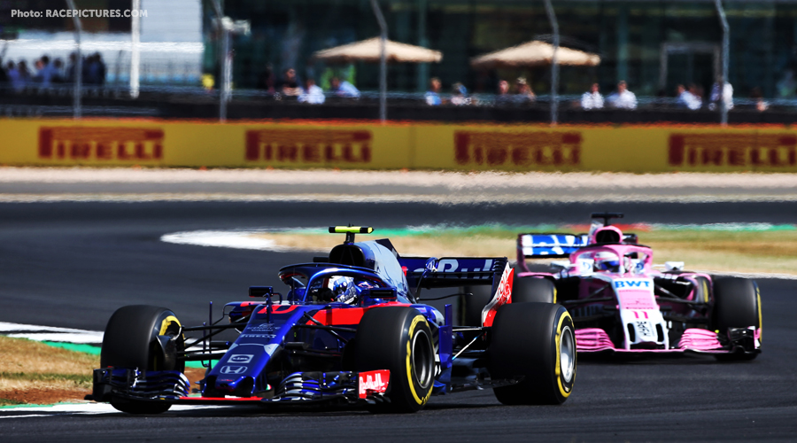 Perez takes points after penalty Gasly