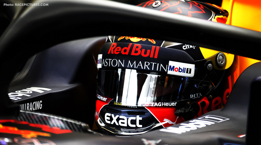 Verstappen satisfied with the performance of his car.